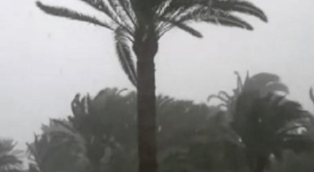 La borrasca llegó al sur de Gran Canaria con retraso debido a un anticiclón