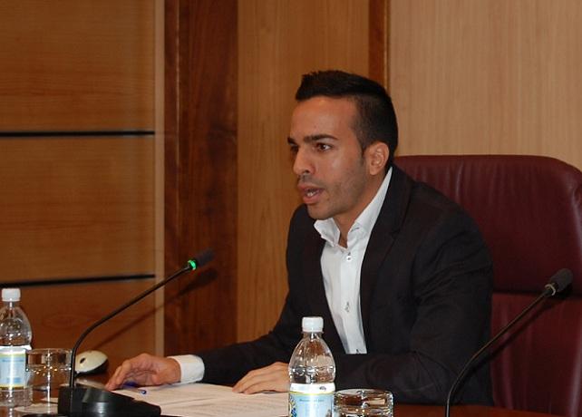 Maicol Santana, concejal de Juventud, Cultura y Festejos del Ayuntamiento de Mogán