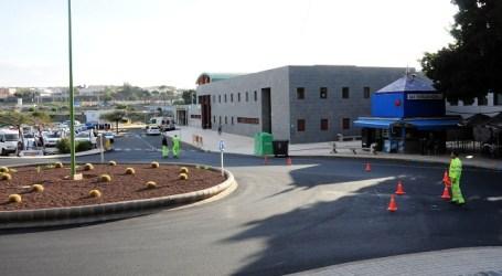Una nueva rotonda regula el tráfico en el Tanatorio y el Centro de Salud de Maspalomas