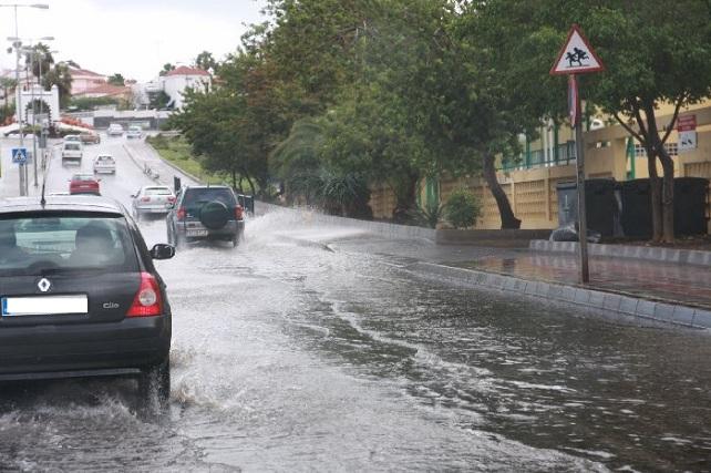 Lluvia en Maspalomas