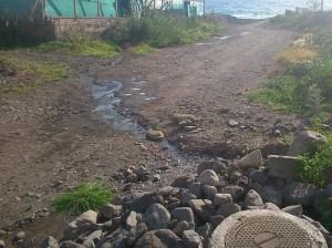 Tazarte, vertidos de aguas fecales