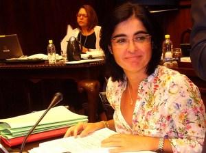 Carolina Darias, consejera y portavoz insular del PSC-PSOE