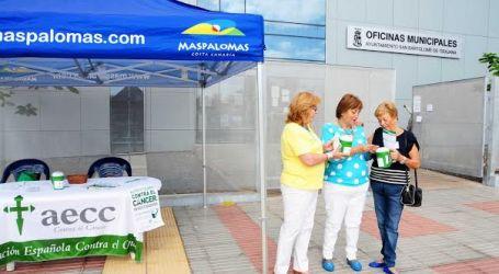 Nuevo éxito de la cuestación contra el cáncer en Maspalomas