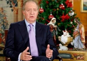 El rey Juan Carlos I, en un de sus tradicionales mensajes navideños