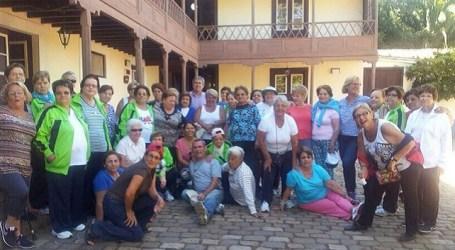 Mayores de Tirajana conviven en la Finca de Osorio, en Teror