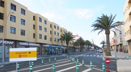 Comienza el ensanche de aceras de la 2ª fase de la Avenida de Canarias