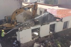 Demolición de las dependencias de la Fedac, en Tunte