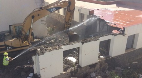 El derrumbe y desescombro de la Casa de la Cultura de Tunte durará mes y medio
