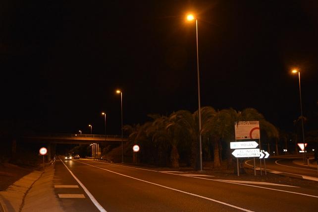 Entrada a la zona turística desde la GC-1
