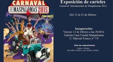 La Casa Condal exhibe los carteles presentados al Carnaval de Maspalomas 2015