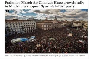 31-E en Madrid, foto publicada en el periódico británico The Independent