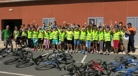 Más de 500 escolares de Santa Lucía participan en la Semana de la Movilidad