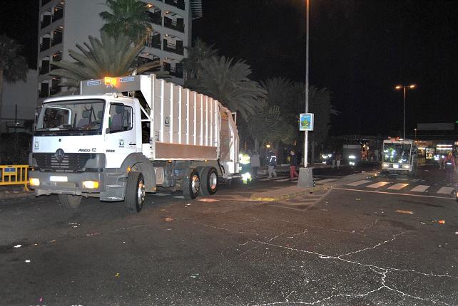 Camiones de la limpieza viaria