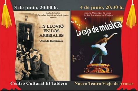 Escuelas municipales de teatro, intercambio (detalle del cartel)