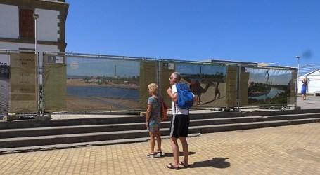 El Cabildo de Gran Canaria tapa con fotografías las obras del Faro de Maspalomas