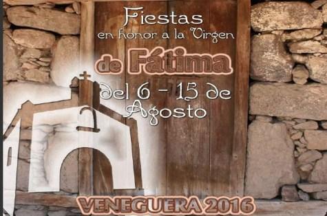 Detalle del cartel de las fiestas de Veneguera 2016