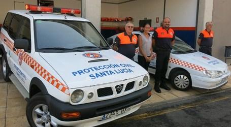 Protección Civil de Santa Lucía presenta dos nuevos vehículos para su parque móvil