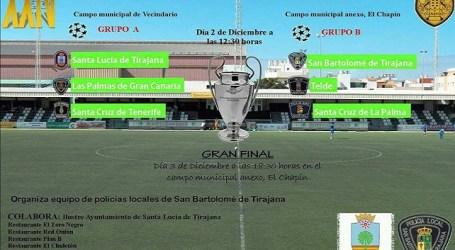 Santa Lucía acoge el Torneo de Fútbol de Policías Locales de Canarias