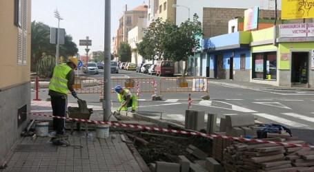 La ampliación de las aceras de la calle Centrífuga permitirá terrazas de restauración