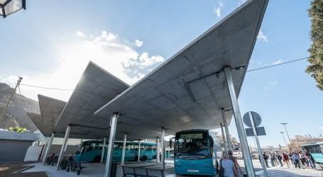 La seguridad y el confort esperan a los usuarios en la nueva estación de guaguas de Playa de Mogán