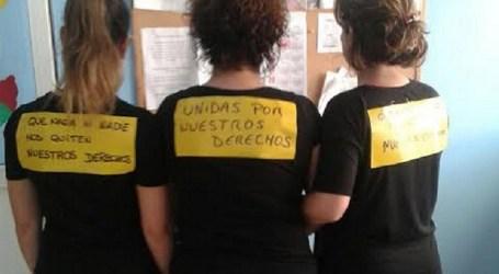 Cerca de 200 empleadas municipales secundan el paro en Santa Lucía por el 8 de marzo