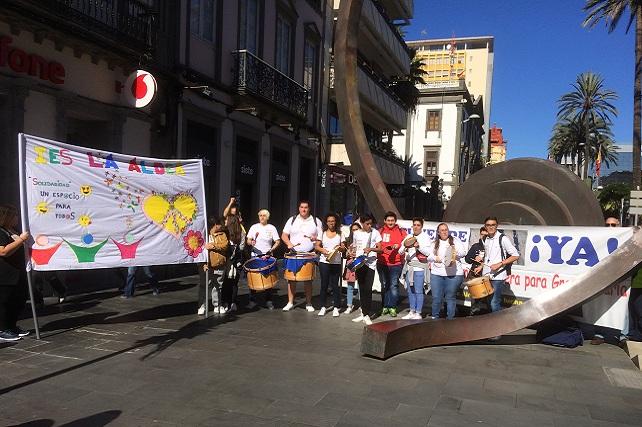 Foro Roque Aldeano, manifestación en Triana
