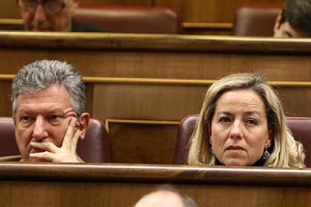 Pedro Quevedo (NC) y Ana Oramas (CC)