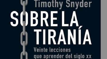 """Antonio Morales Méndez: """"Sobre la tiranía"""""""