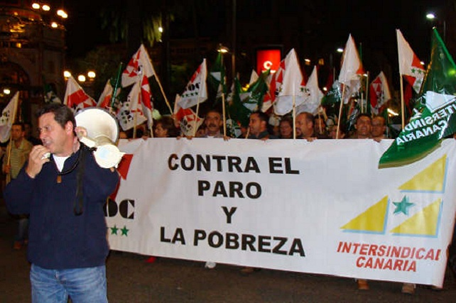 Manifestación contra el paro y la pobreza