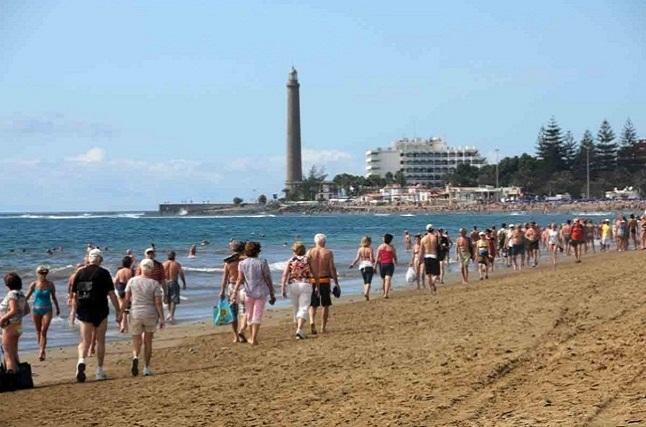 Faro y playa de Maspalomas