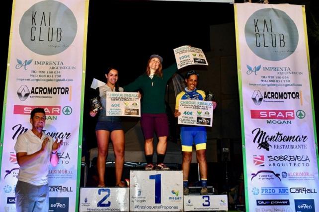 Crono Escalada KAI Club Cortadores, podio femenino