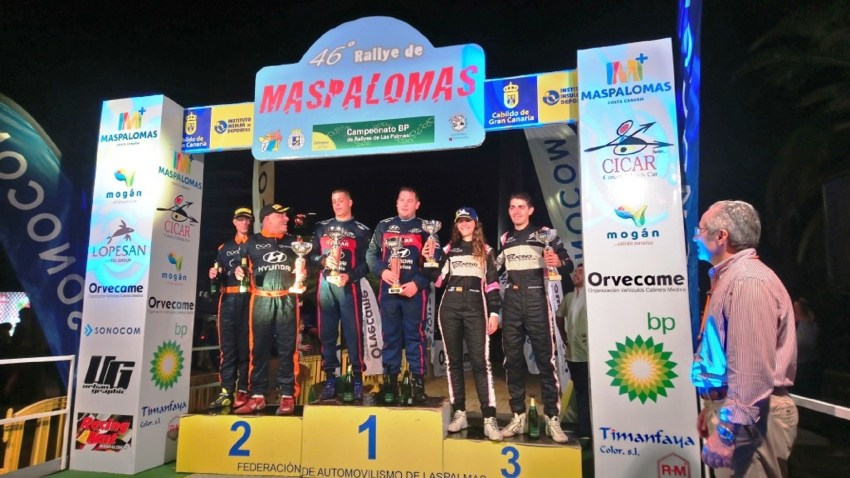 46º Rallye de Maspalomas, podio
