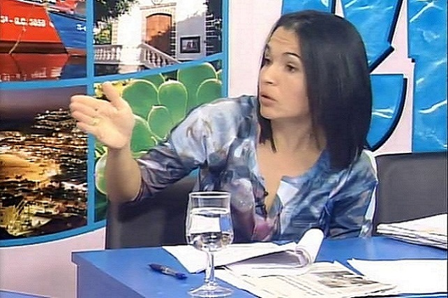 Isabel Santiago, en RTV Mogán