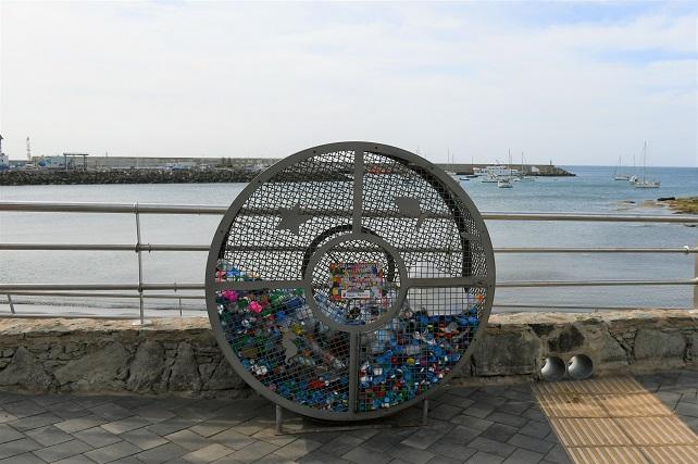 Contenedor de tapones de plástico en Arguineguín