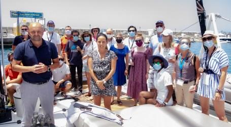 Una expedición de la Organización Mundial del Turismo conoce el sur de Gran Canaria