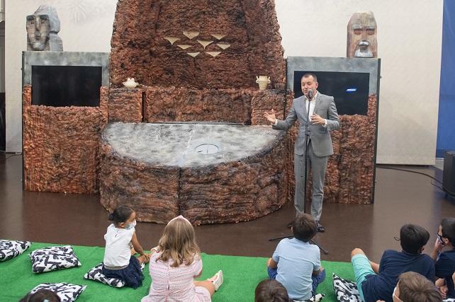 El Cabildo estrena el espectáculo infantil de Risco Caído con personajes de la cumbre de Gran Canaria La luz del calendario astronómico, la cebada milenaria, los roques Nublo y Bentayga y hasta las ovejas bombero protagonizan el espectáculo