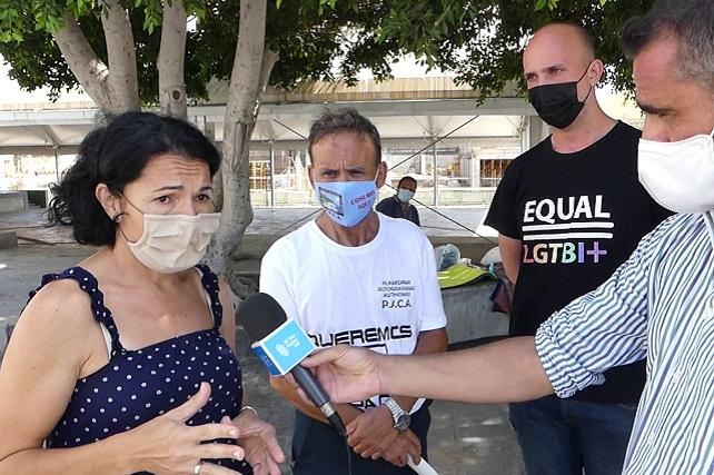 NC muestra su apoyo a la activista Emma Colao, en huelga de hambre contra el cierre del banco de alimentos en Mogán La presidenta de la asociación feminista Equal LGTBI+ reclama una ubicación alternativa al proyecto que desarrolla la A.V. Las Lomas de Arguineguín