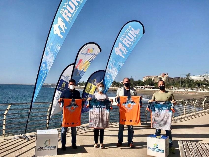 SwimRun Maspalomas-Gran Canaria reunirá a 180 participantes Por delante, cuatro tramos de natación en mar abierto y cinco de carrera a pie que les llevarán por parajes como la playa de Las  Burras, El Veril y Playa del Inglés hasta llegar al Faro
