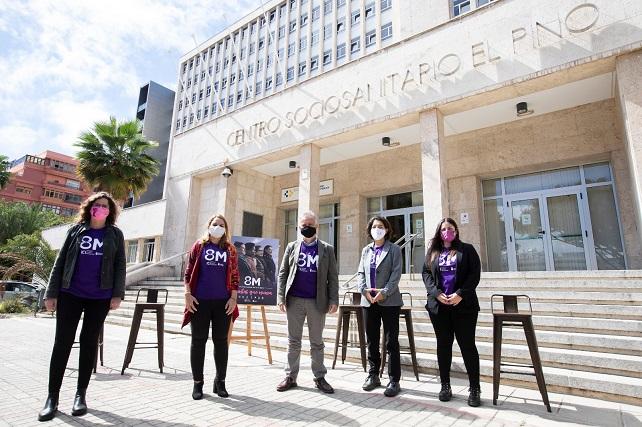 """El Gobierno apela a la unidad de las redes femeninas para luchar por la igualdad y derechos de las mujeres """"+ Juntas que nunca"""" es el lema de la campaña conjunta con todos los cabildos insulares"""