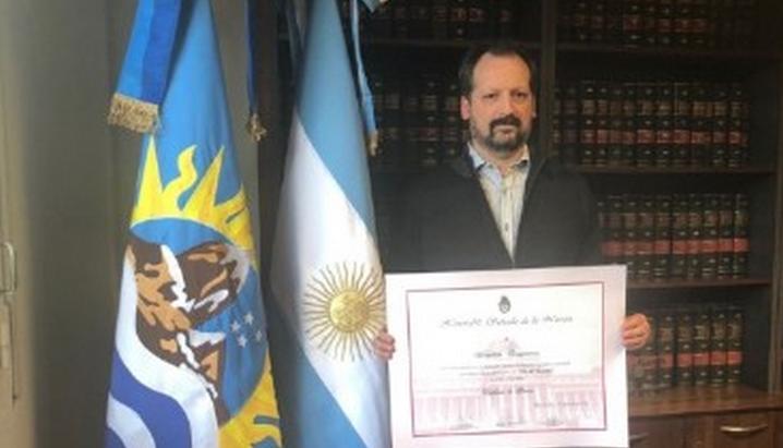 El escritor santacruceño, Sebastián Tresguerres