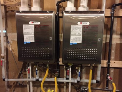 small resolution of tankless water heater install