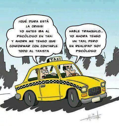 Taxista psicologia humor