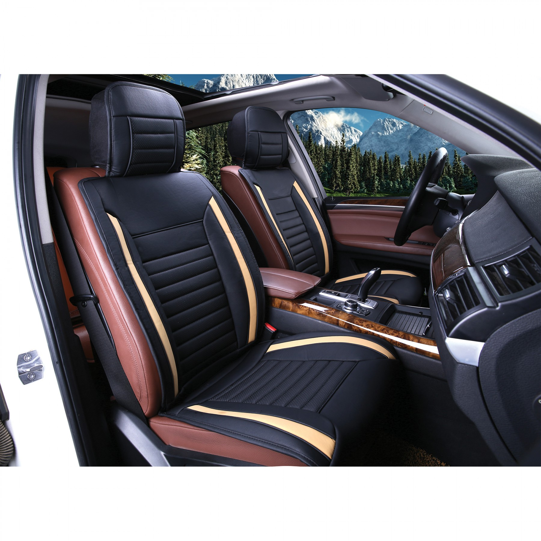 Luxury Series Tan Car Front Seat Cover  Auto Seat Covers