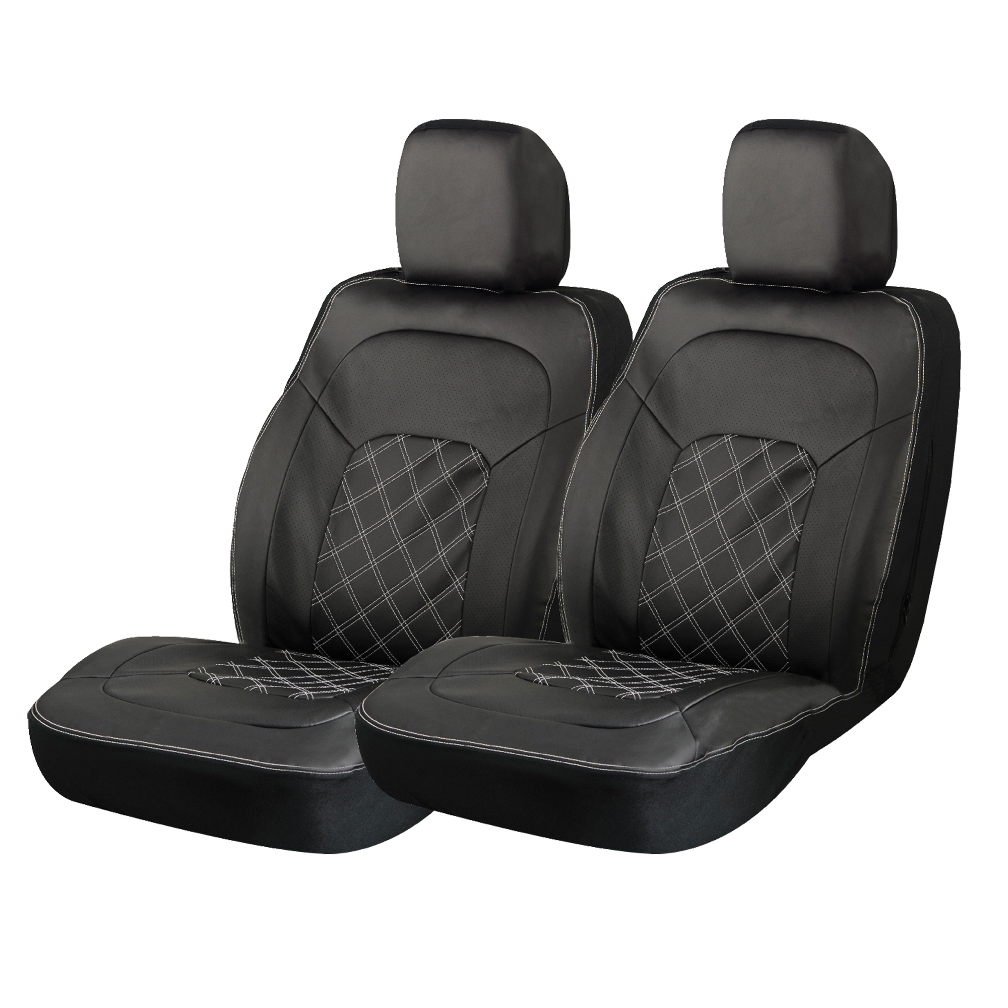 Black Diamond Truck Front Seat Cover  Leather Seat Covers
