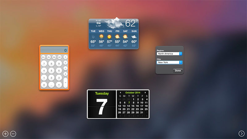 Dashboard de Mac