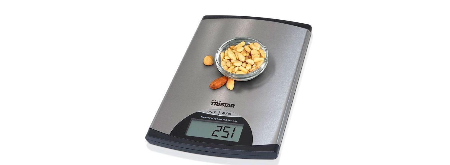Oferta b scula de cocina tristar kw 2435 solo 8 94 euros for Bascula cocina amazon