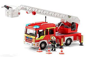 Camión bomberos Playmobil co luces y sonidos barato amazon