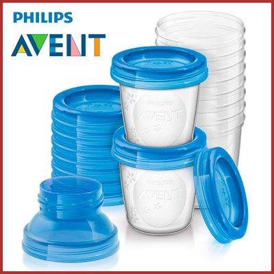 Oferta juego recipientes leche materna Philips Avent SCF618