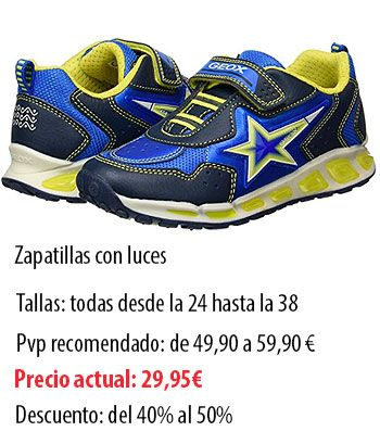 calzado Geox barato amazon, zapatillas geox con luces