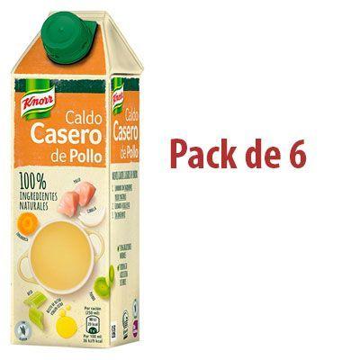 Oferta pack 6 caldos caseros de pollo Knorr baratos amazon